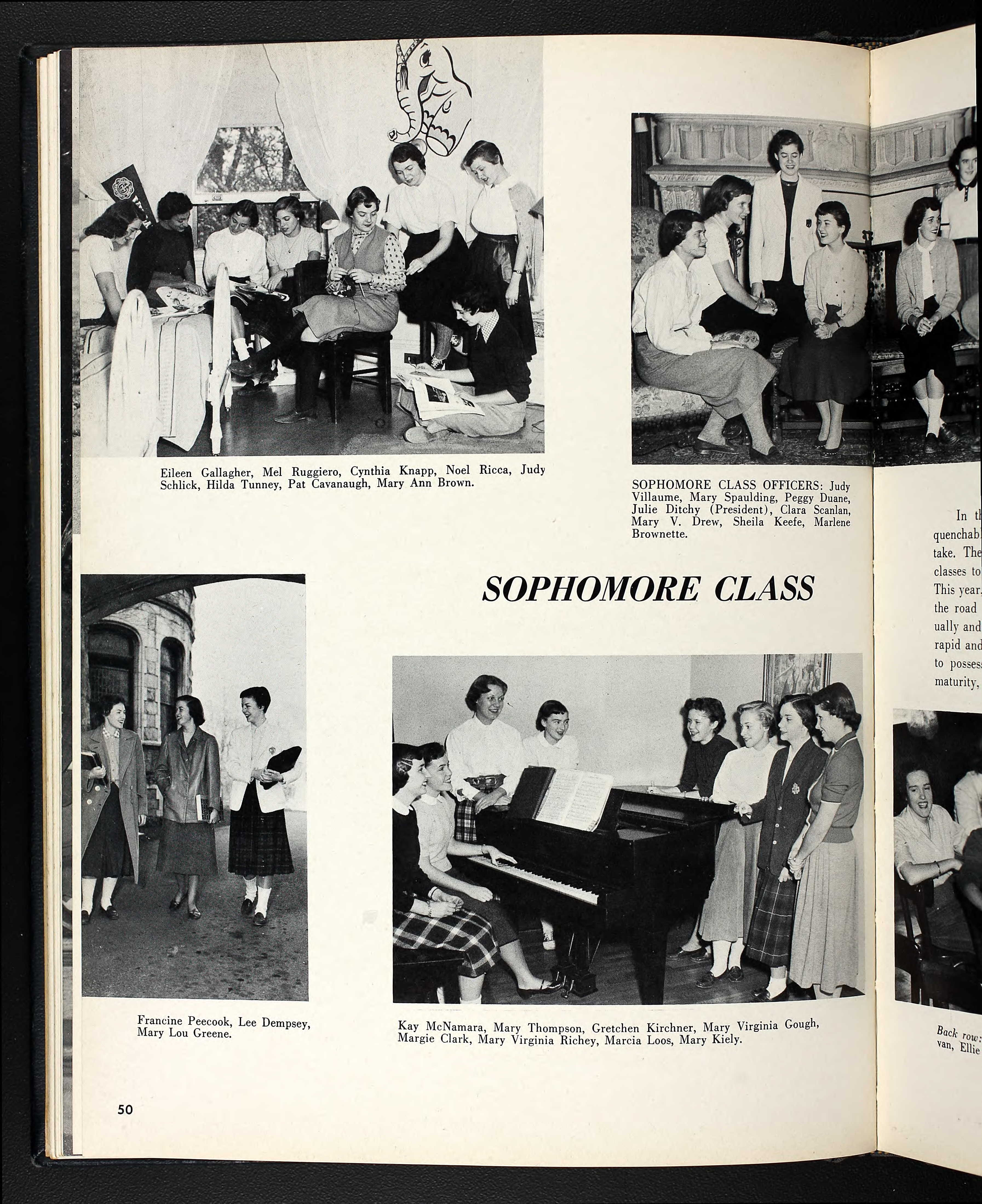 1954 Yearbook Page