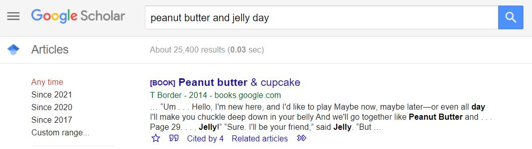 peanut butter google 1