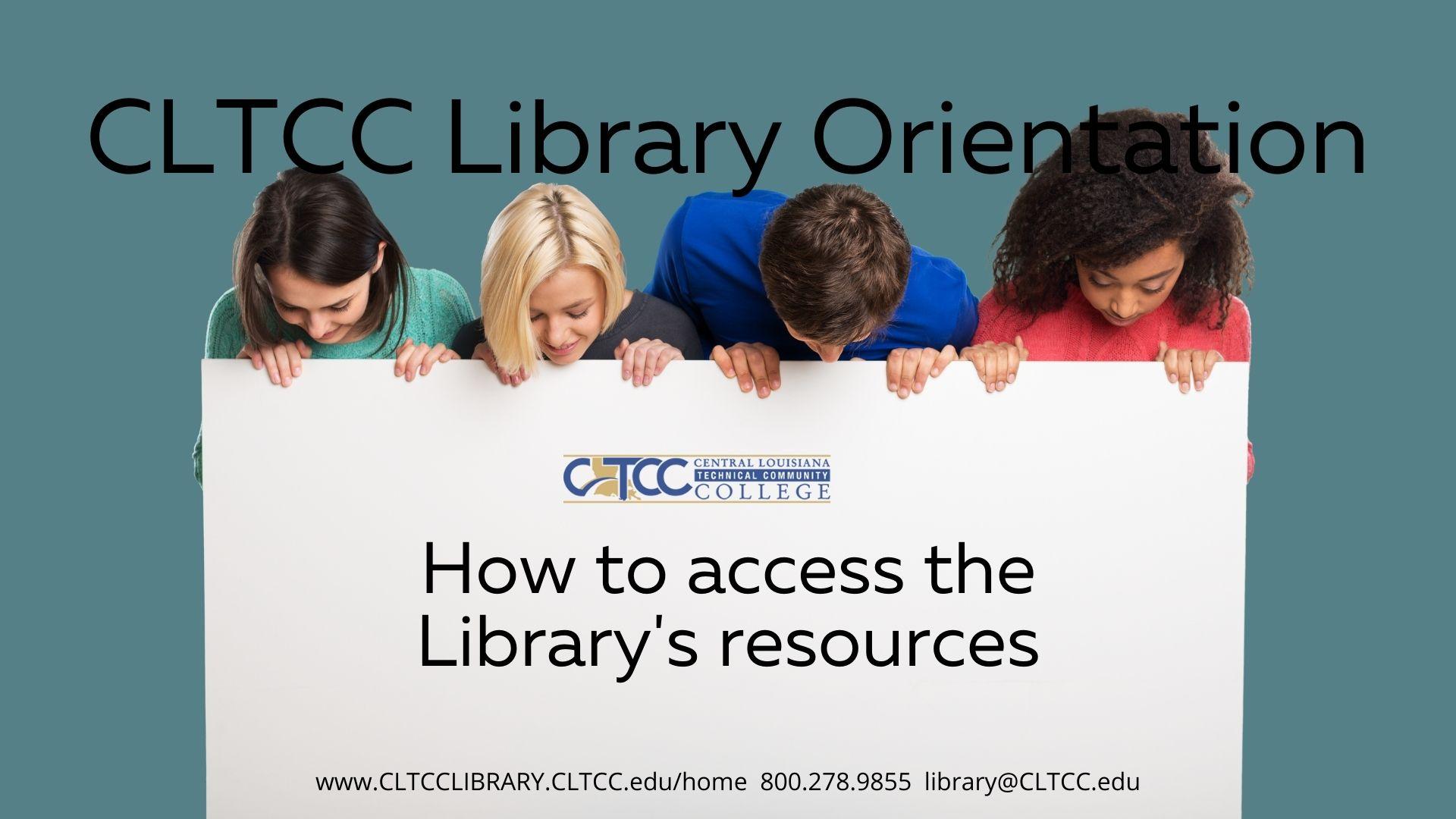 CLTCC Library Orientation