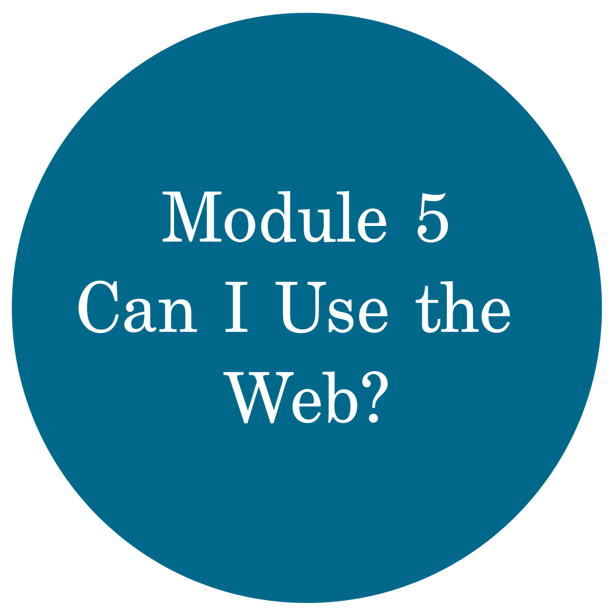 Module 5 Can I Use the Web?