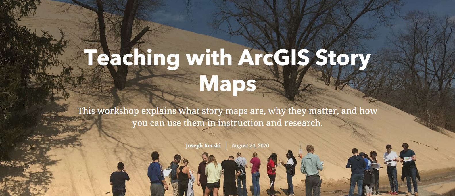 Teaching with ArcGIS Story Maps screenshot