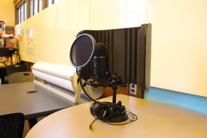 image of podcasting equipment