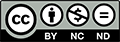 Creative Commons Attribution Non Commercial No Derivatives button