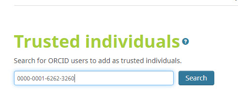 Search for Individual by ORCID iD