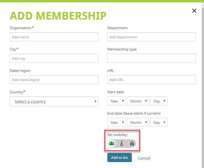 Add membership information to ORCID record