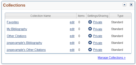 Access to delegator's collections