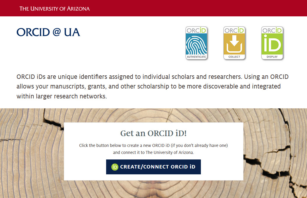 Register at ORCID at UA