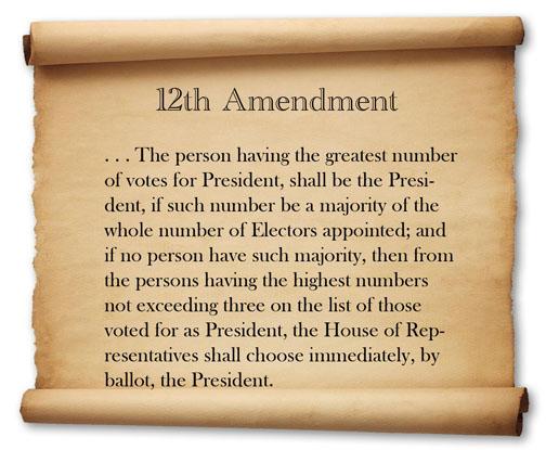 image of twelfh amendment text