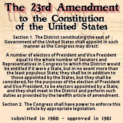 image of twenty-third amendment text