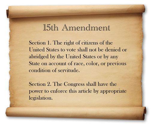 image of fifteenth amendment text