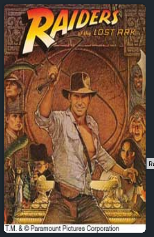 Movie poster for Raiders of the Lost Ark
