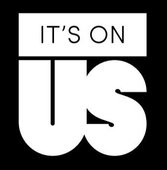 it's on us logo black box with white text