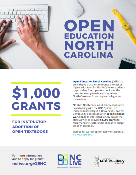 flyer for $1,000 faculty grants