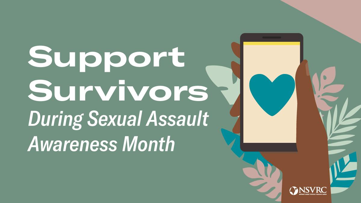 SAAM logo green background support survivors