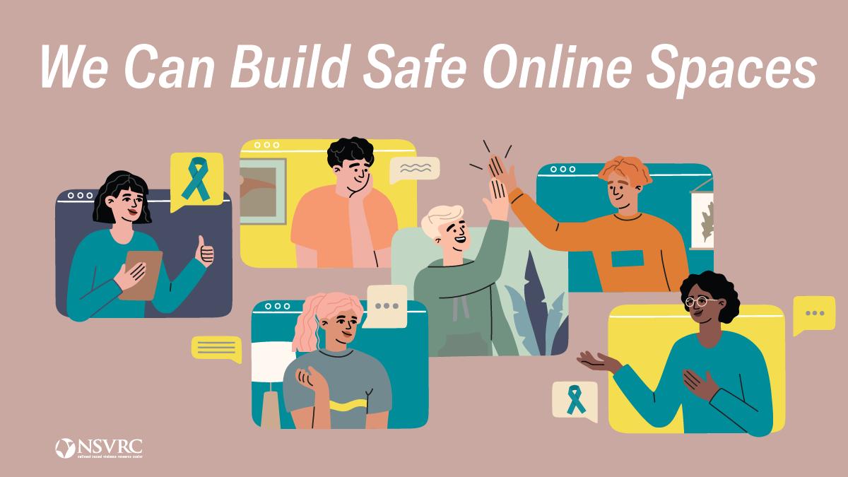 SAAM logo mauve background build safe online spaces
