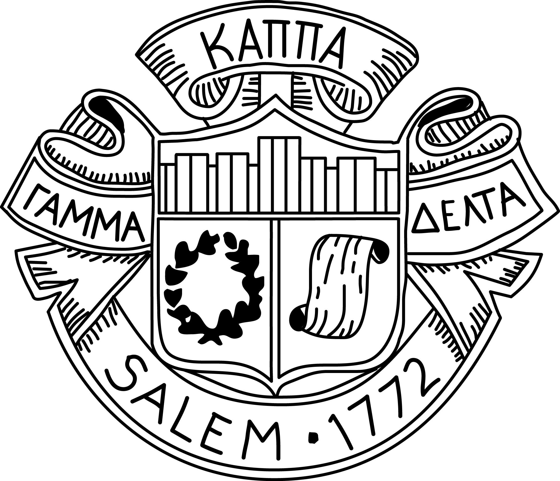 salem 1772 seal in black and white