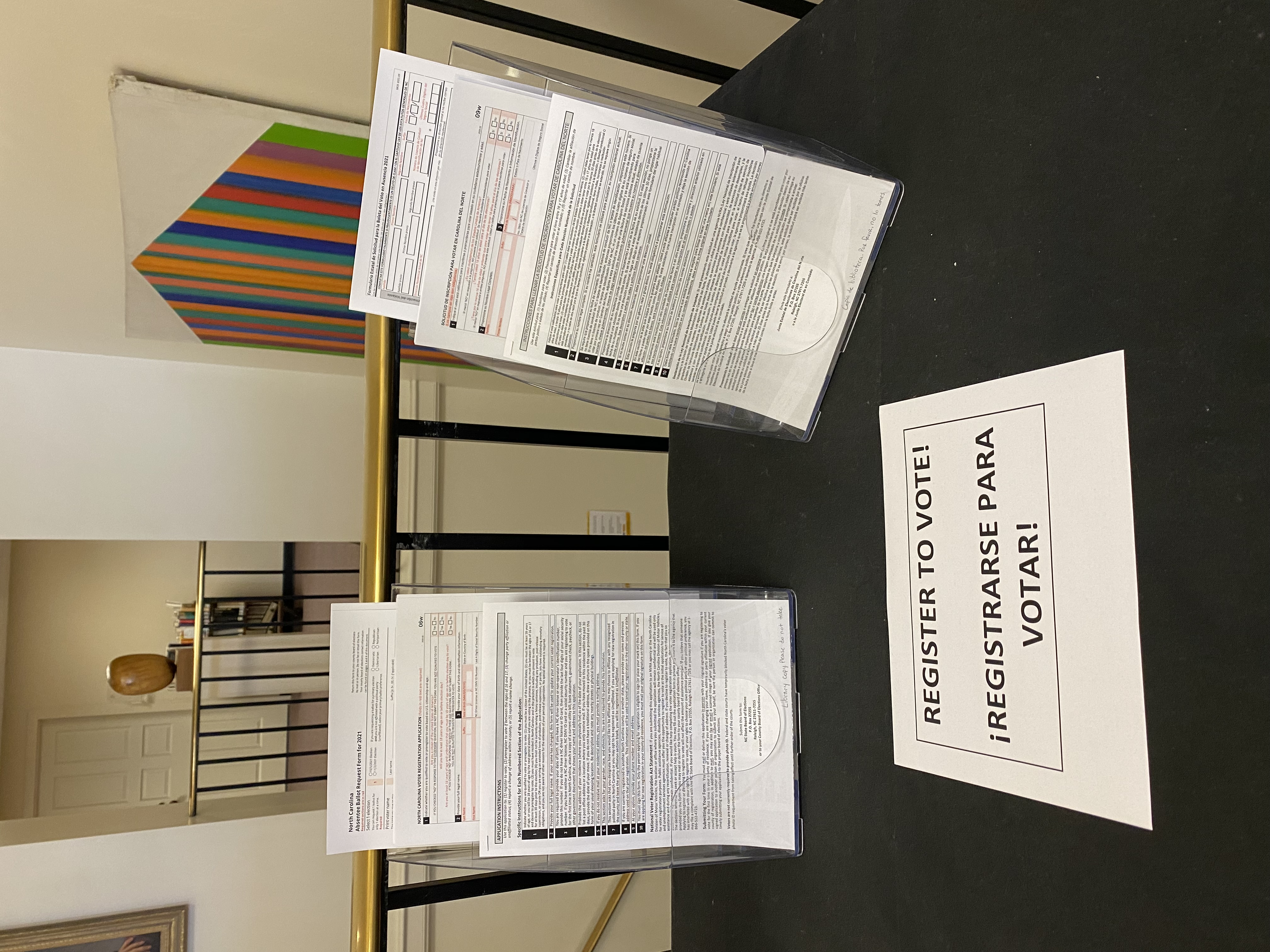 photo of voter forms available