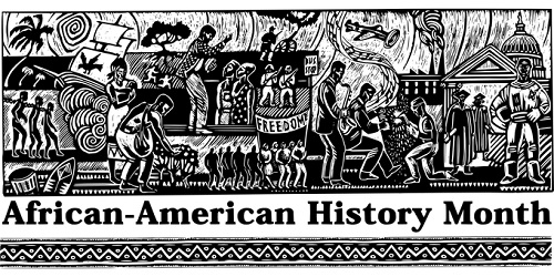An illustrated banner depicting African American culture
