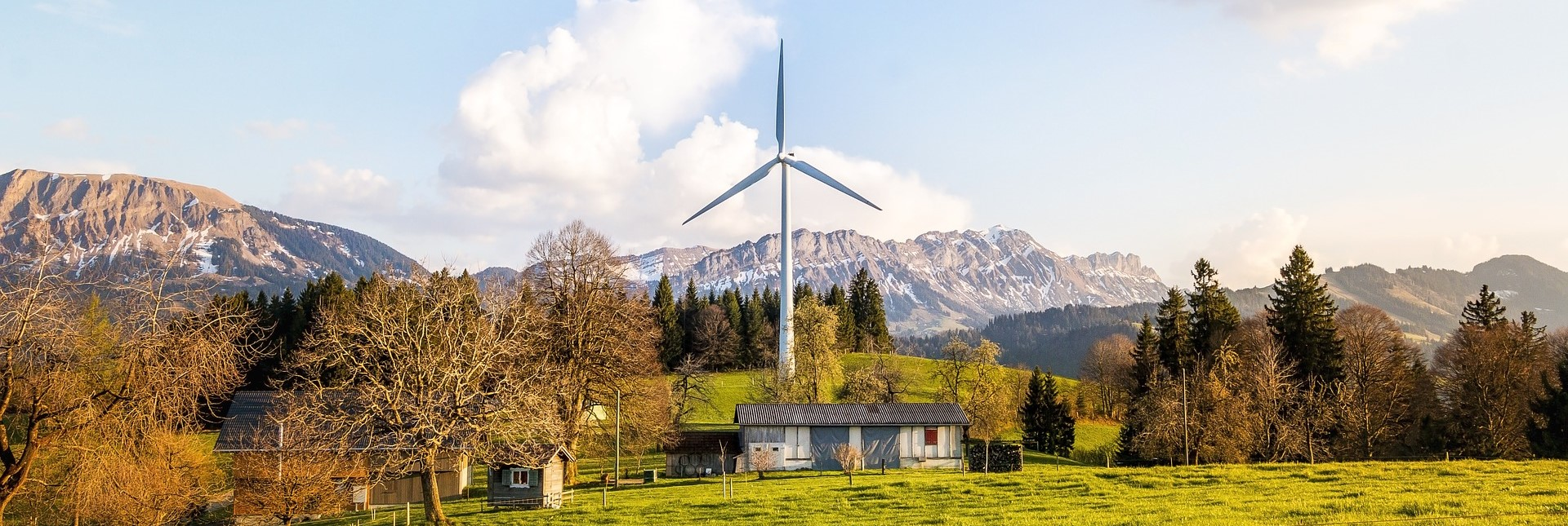 Wind Turbine in the Mountains