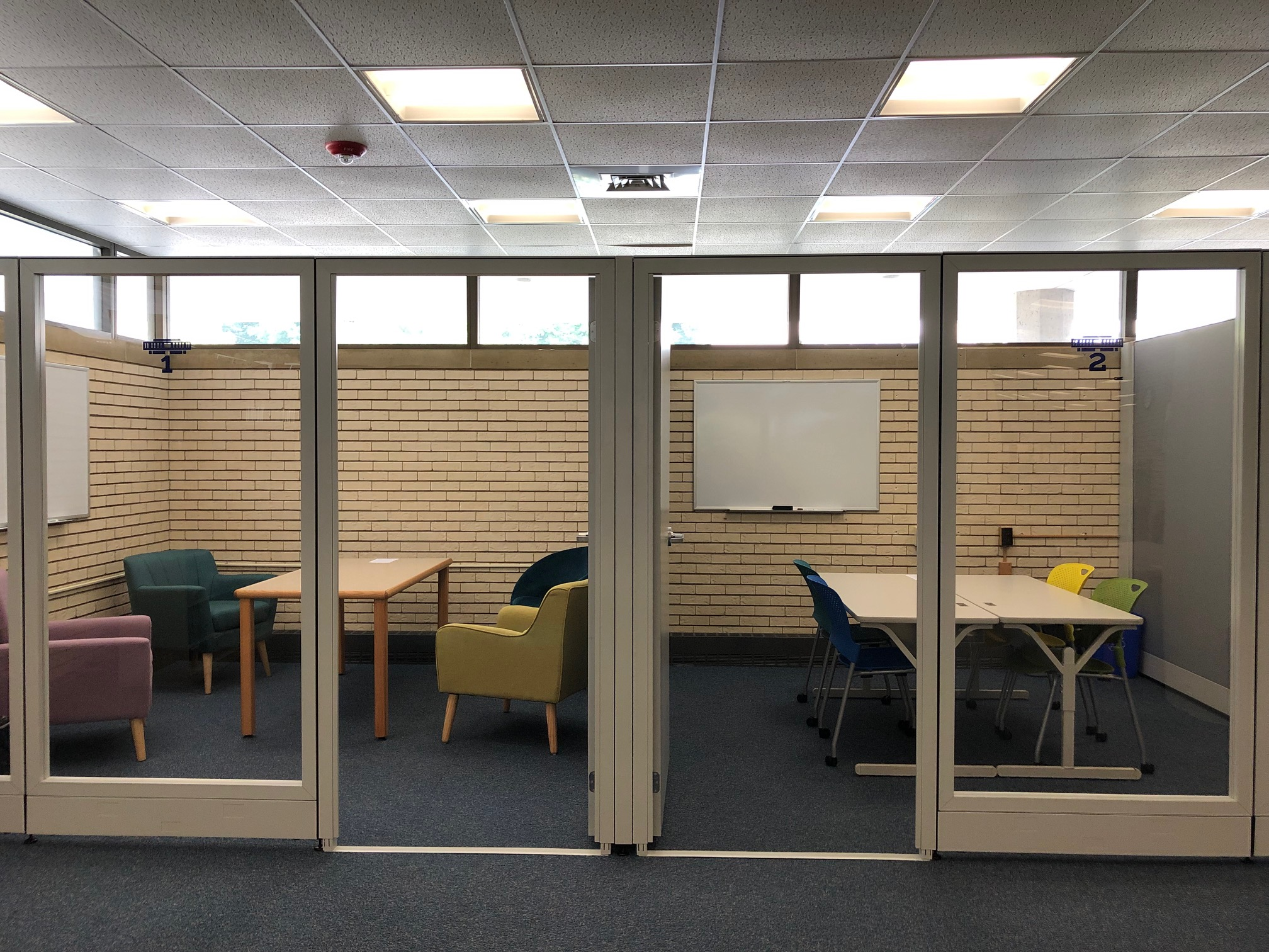 New study rooms in library