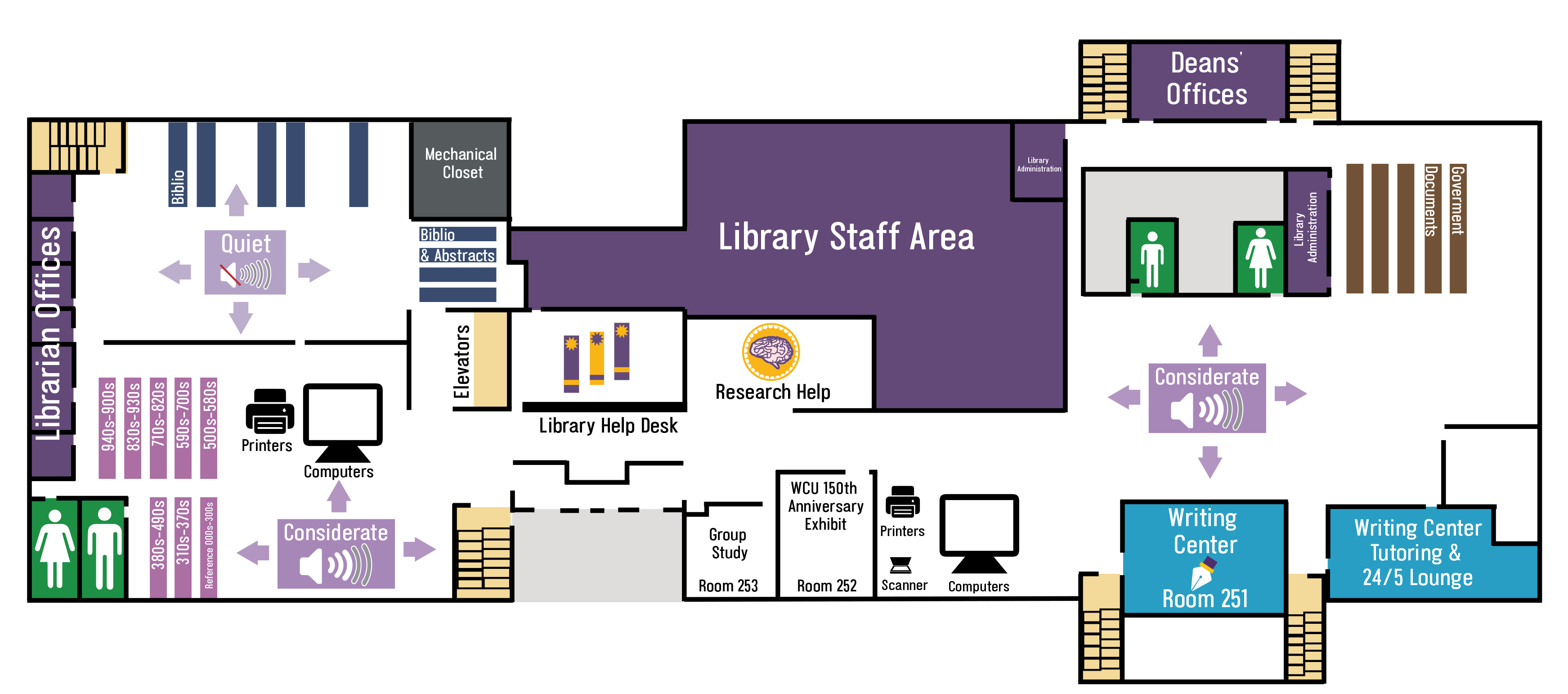 2nd floor of the FHG Library