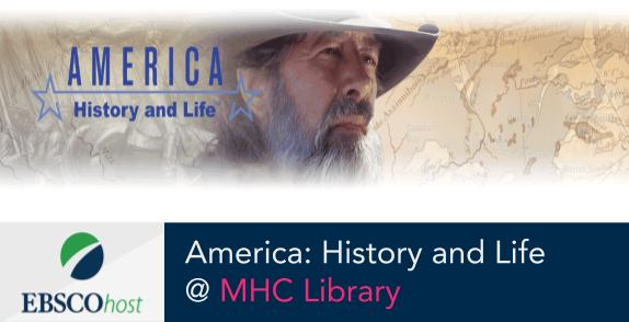 America: History and Life database logo and link to database