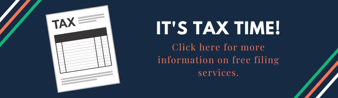 It's tax time! Click here to find options to get your taxes done for free!