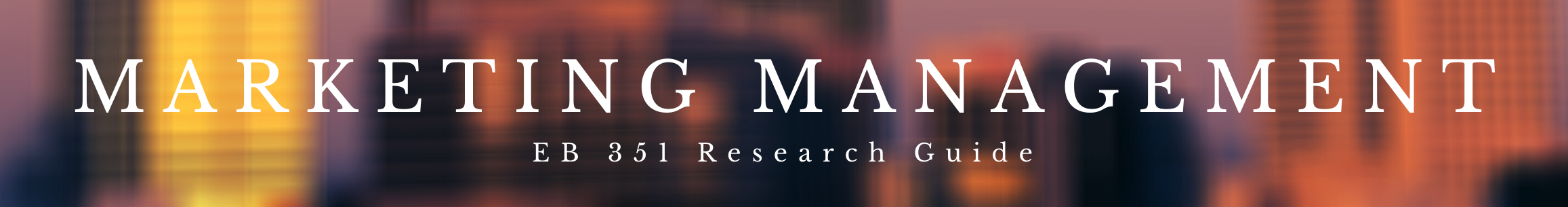 Marketing Management Research Guide header image