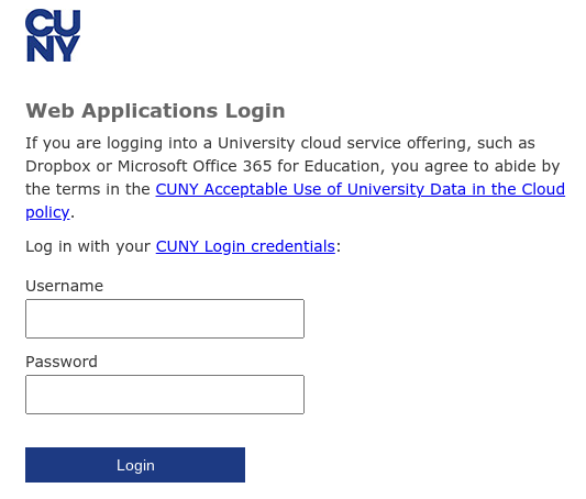 CUNY single login