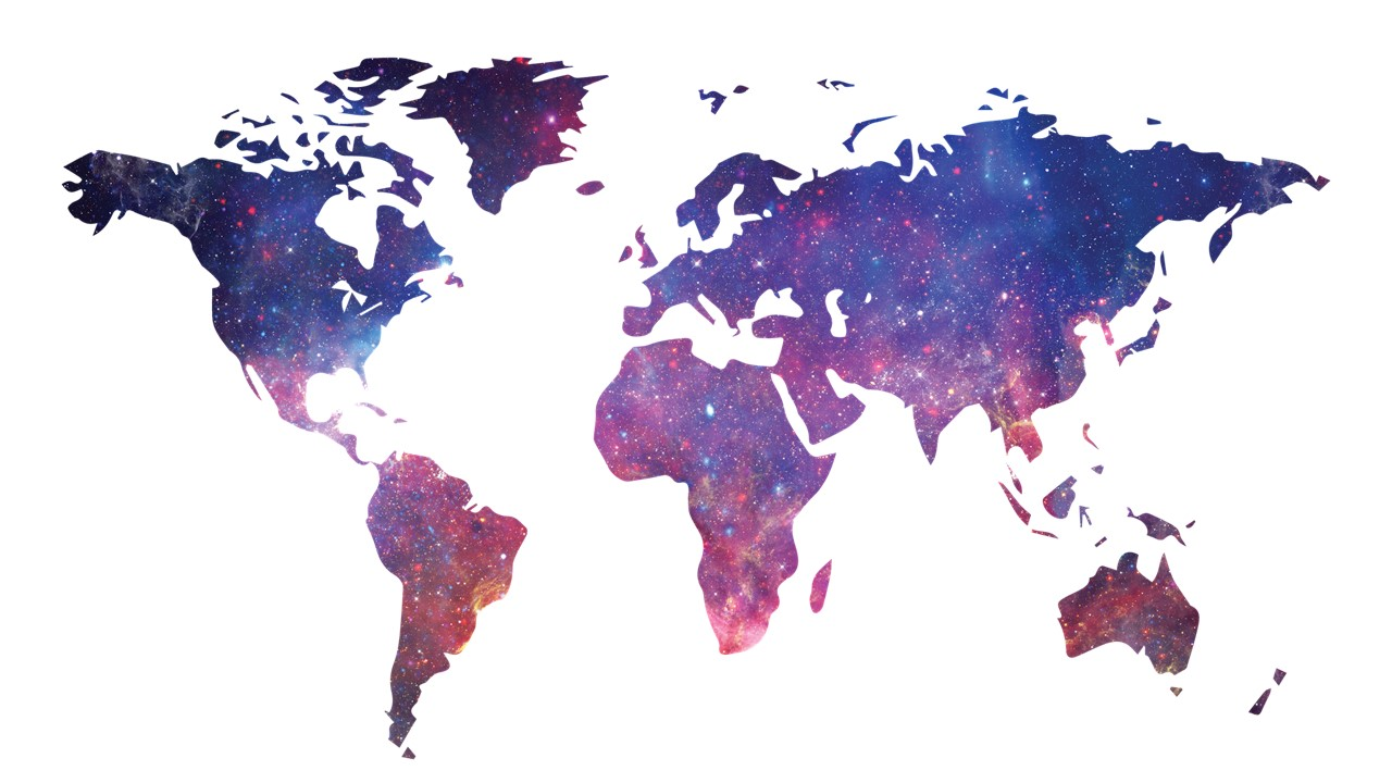 Image of earth continents