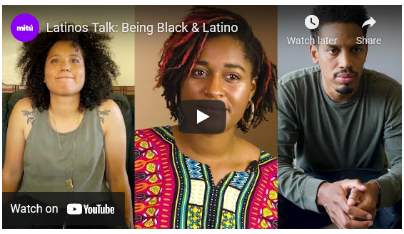 Images of several Black Latinos, prepariong to talk about their experience.