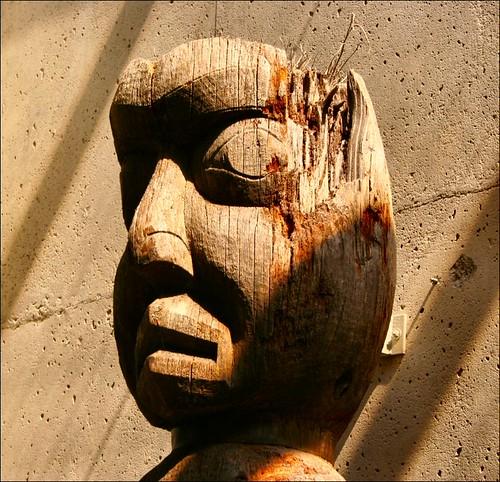 wooden head cultural artifact