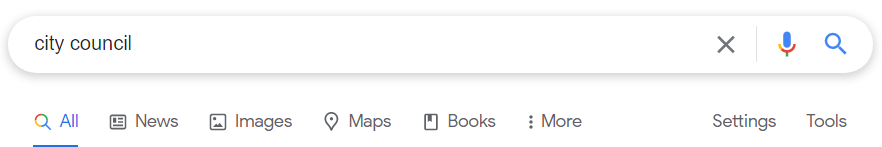 City Council Google Search