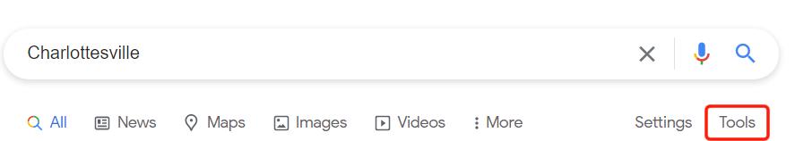 google click on tools