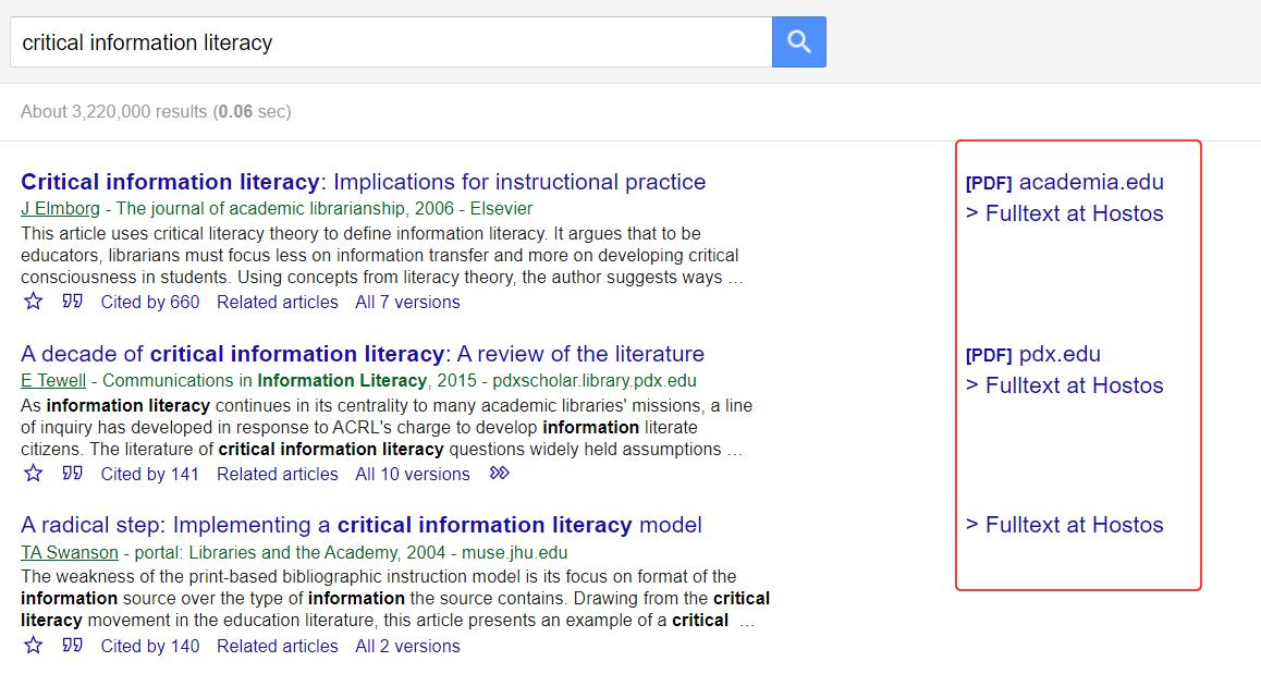 Google Scholar Links