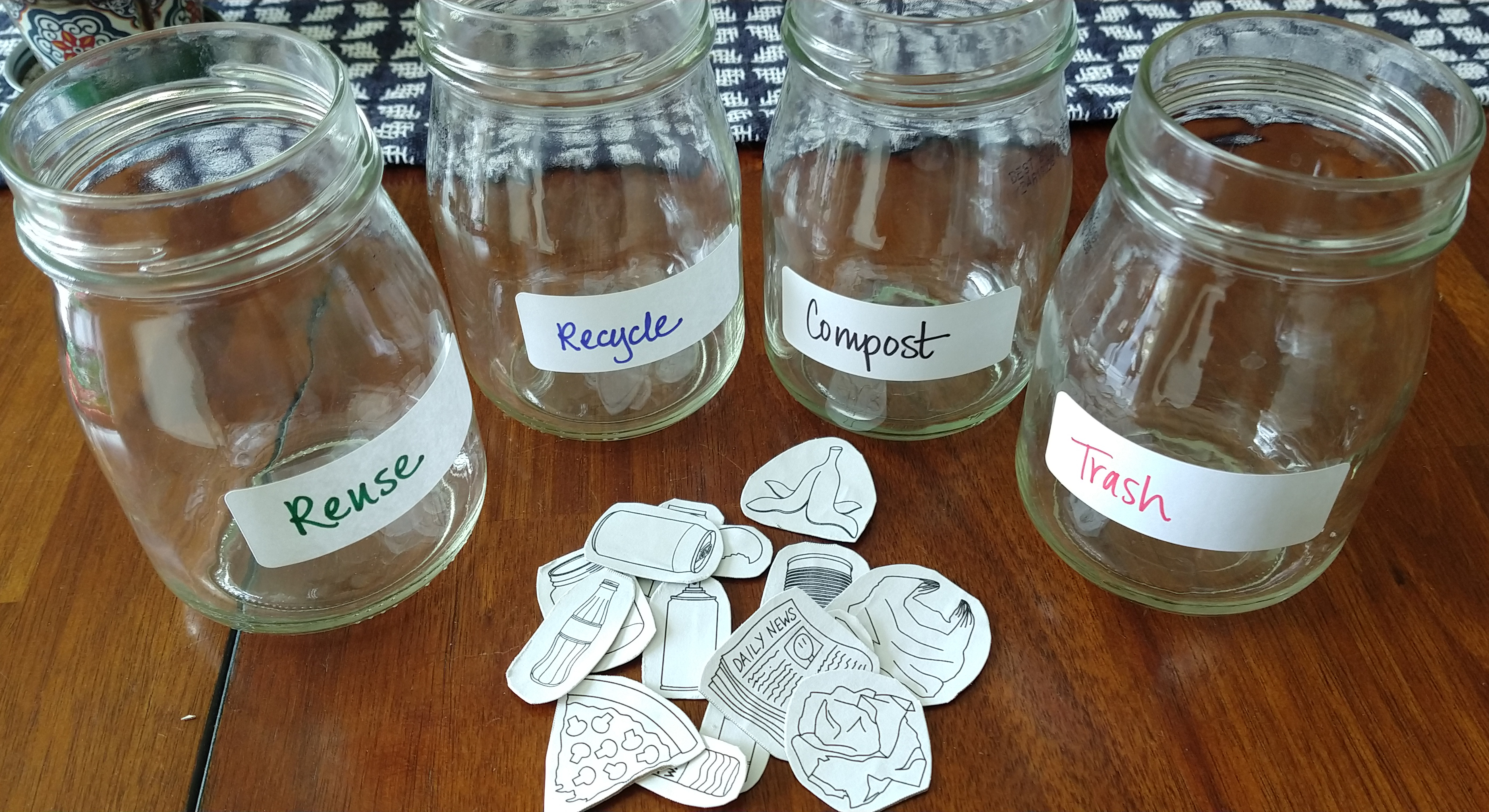 Learn recycling with this simple craft using jars