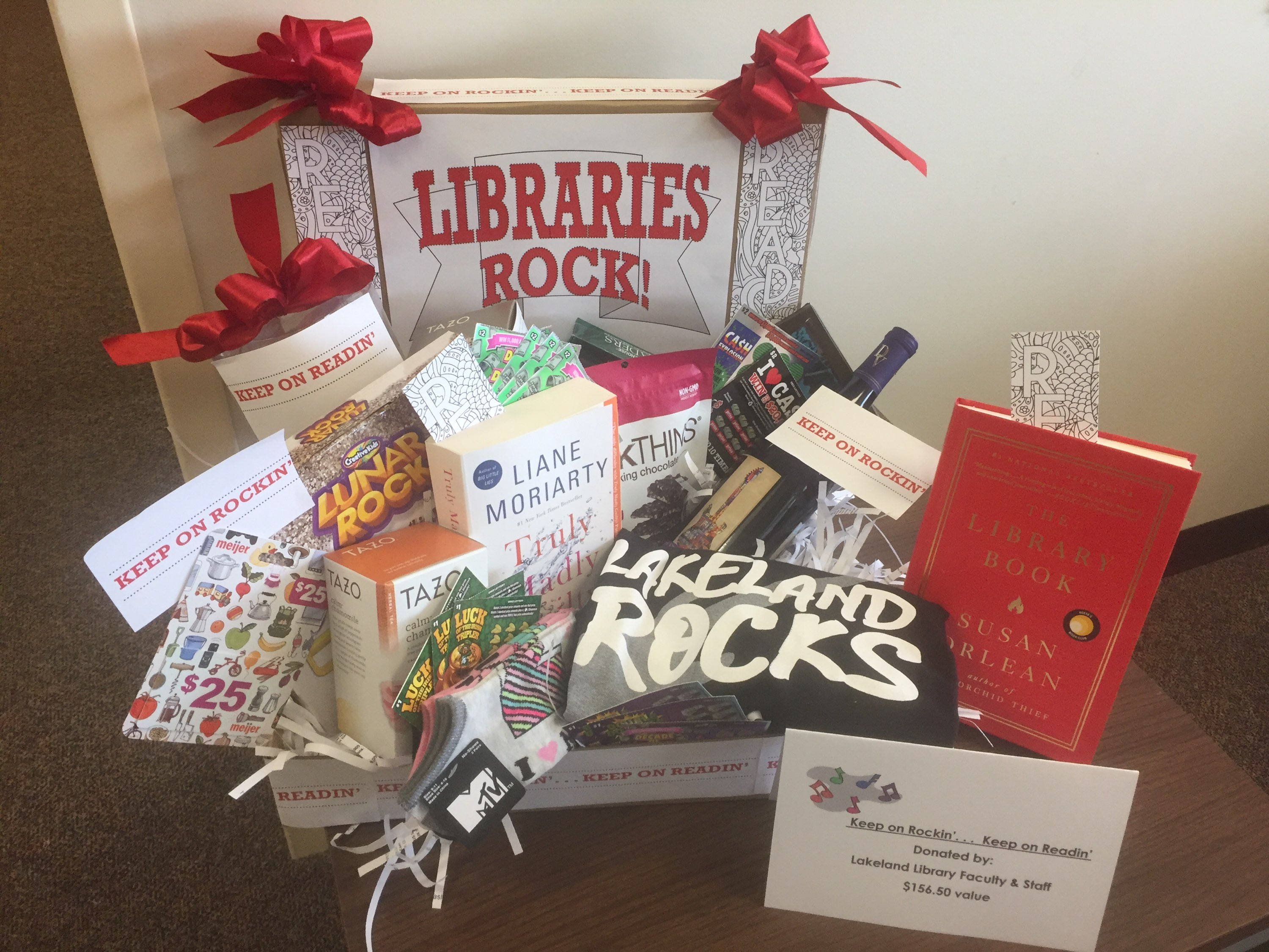 Library gift basket