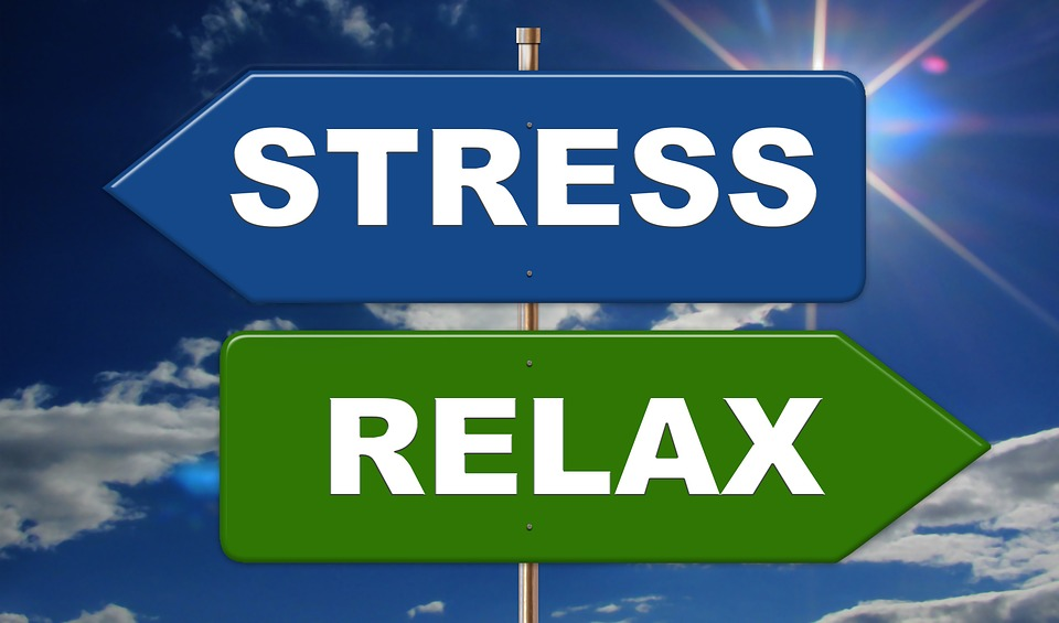 Stress and Relax signs
