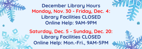 December Library Hours