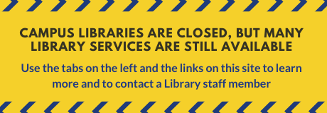 Library Contingency Banner CLOSED
