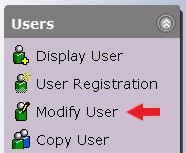 Modify User