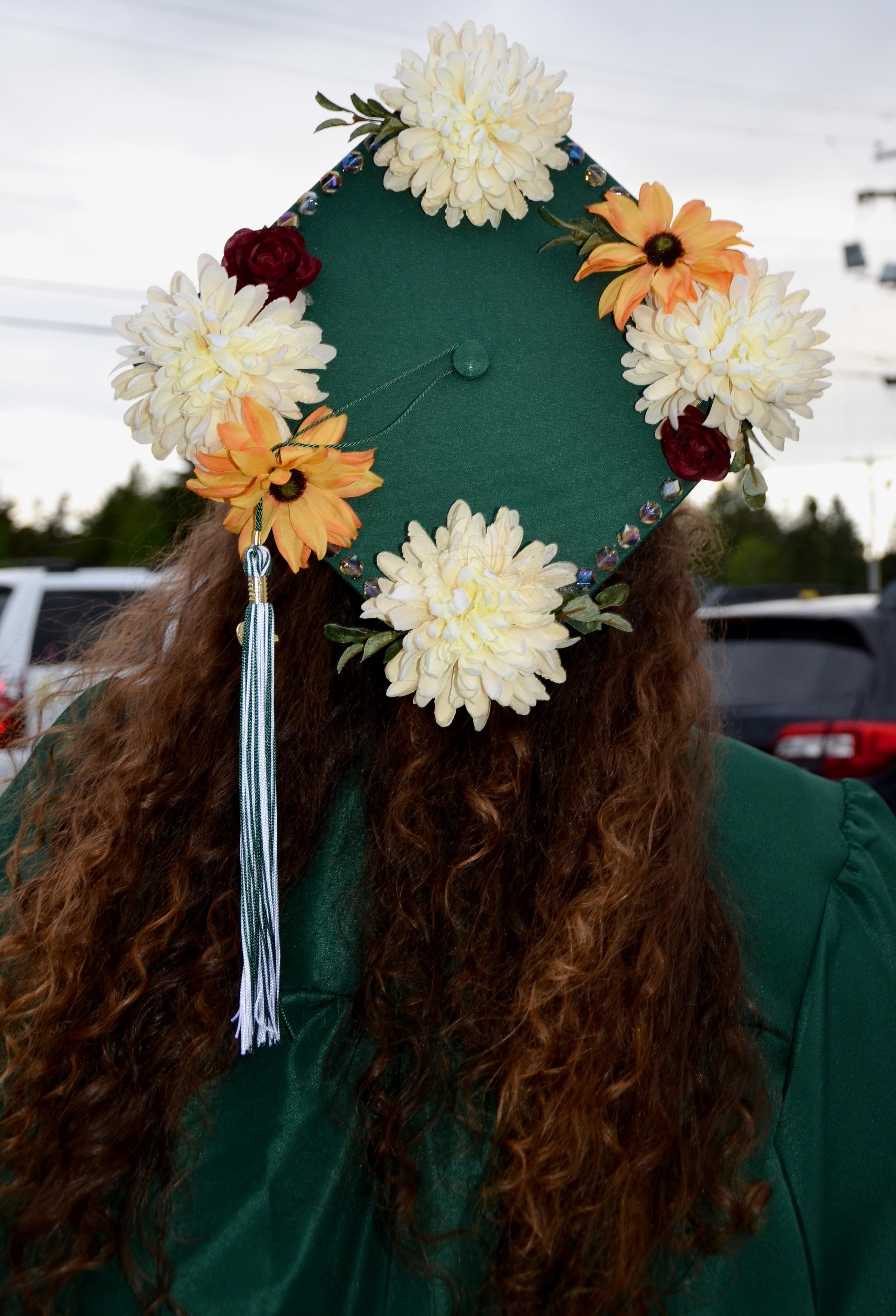 Flowers on Cap