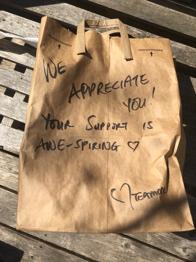 Side Street To-Go Bag with Message