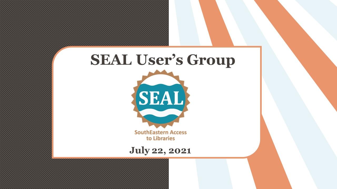 SEAL User's Group slide.