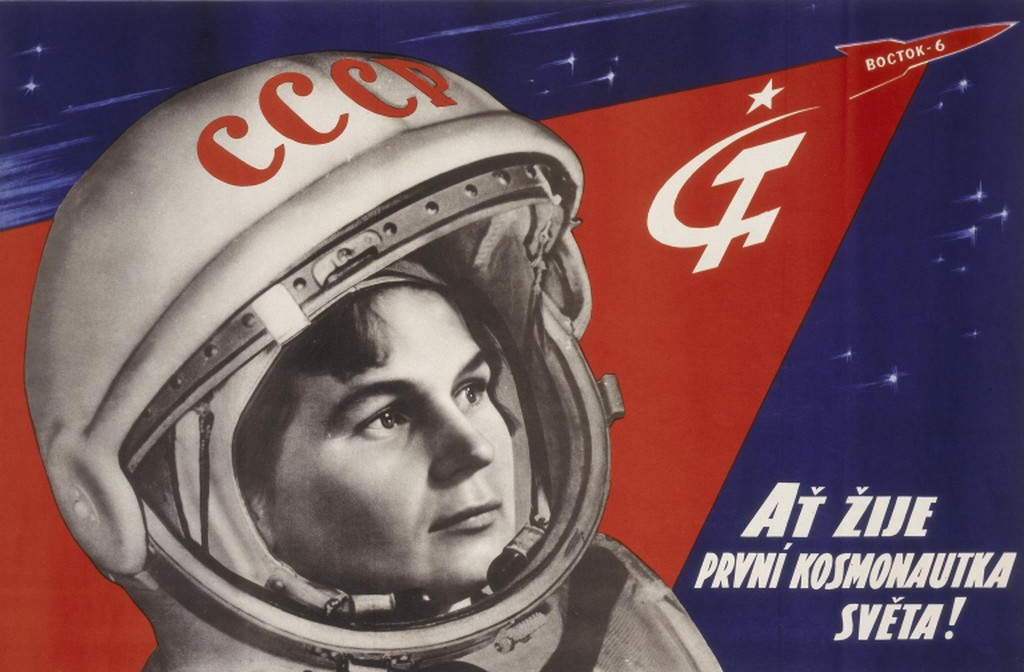 Poster of Valentina Tereshkova, First woman cosmonaut