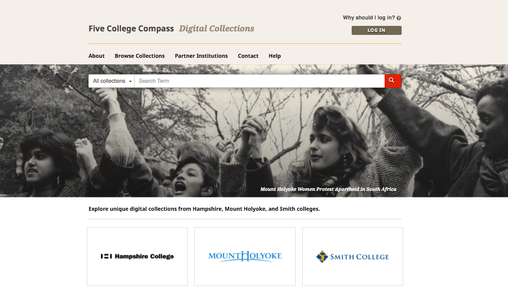 Image of Compass Digital Collection Homepage