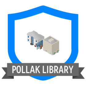 Pollak Library Badge