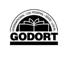 "GODORT Logo saying ""international. federal. state. local"" around edge"