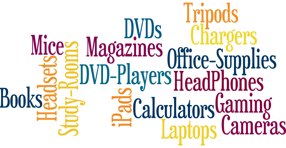 wordle listing items you can check out from cvtc library