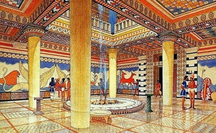 Pylos Throne Room Artist's Rendition